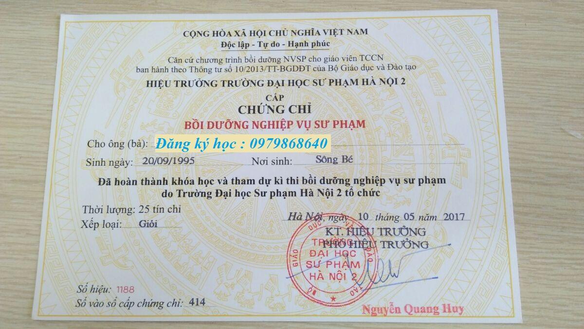 Đào tạo chứng chỉ nghiệp vụ sư phạm tại Hồ Chí Minh